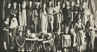 Students performing <i>Macbeth</i> at Burford High School. From the Burford High School Yearbook, 1930