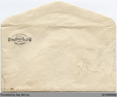 Envelope of Baird and Foley family photos