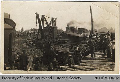 Train Wreck North of Paris