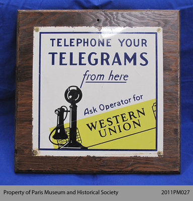 Western Union Telegrams Sign