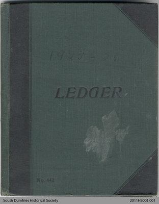 Ledger Book, 1925-26