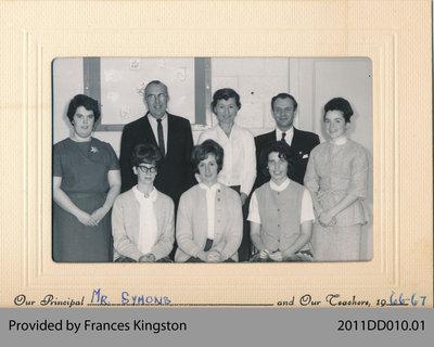 Principal Symons and Teachers