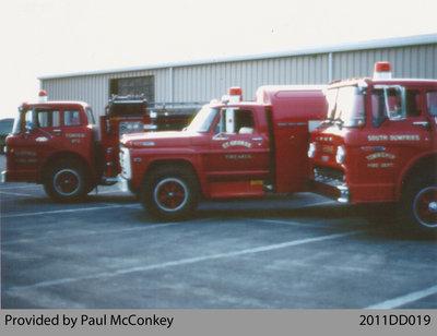 Three Fire Trucks