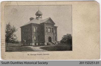 Souvenir Postcard Depicting St. George Public School