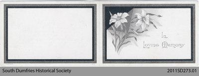 Funeral Card, Andrew McKenzie