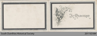 Funeral Card, Julia Amelia Roberts