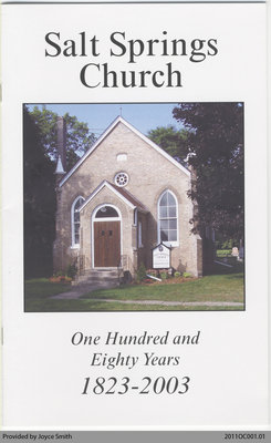 Salt Springs Church: One Hundred and Eighty Years, 1823-2003
