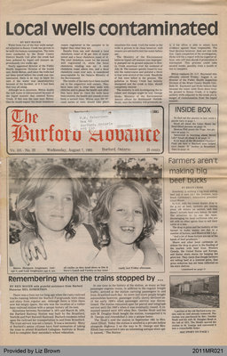 Remembering When Trains Stopped By... by Ken Maver and Mel Robertson, from the Burford Advance