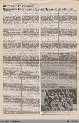 """Remembering the Days When We'd Shout, """"Last One in is a Rotten Egg!"""" by Mel Robertson, from The Burford Times"""