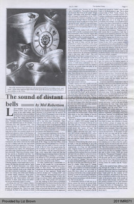 The Sound of Distant Bells by Mel Robertson, from The Burford Times