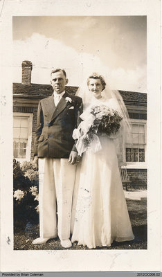 Harvey and Edna Coleman Wedding Portrait