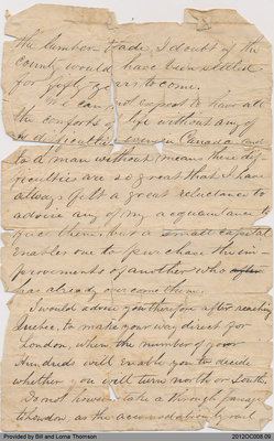 Letter to Robertson Family in Scotland