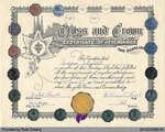 Sunday School Certificate of Attendance