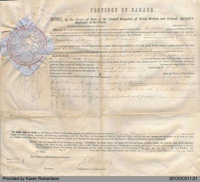 Land Grant to William Douglas