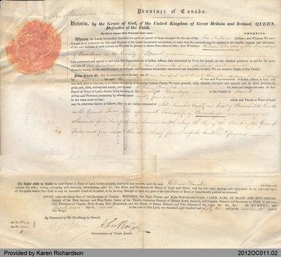 Land Grant to William Douglas of the Township of Onondaga