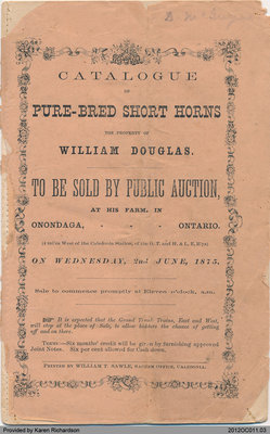 Catalogue of Pure-Bred Short Horns