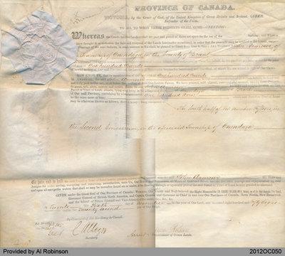 Land Grant to John Armour