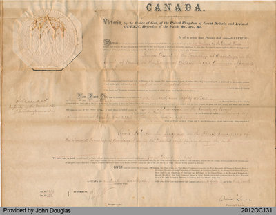 Indian Land Sale-Grant to James Grant