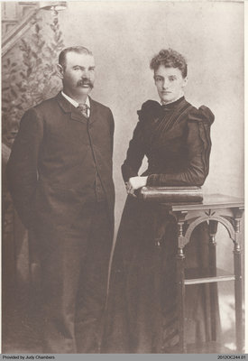 Photograph of Abraham and Mary Ellen Edwards