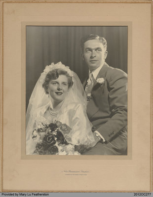 Wedding Photograph of Tom and Mary Lu Featherston
