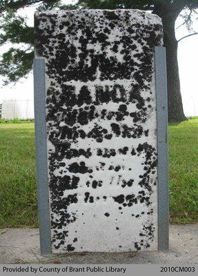Dutcher Cemetery Headstone 1-1