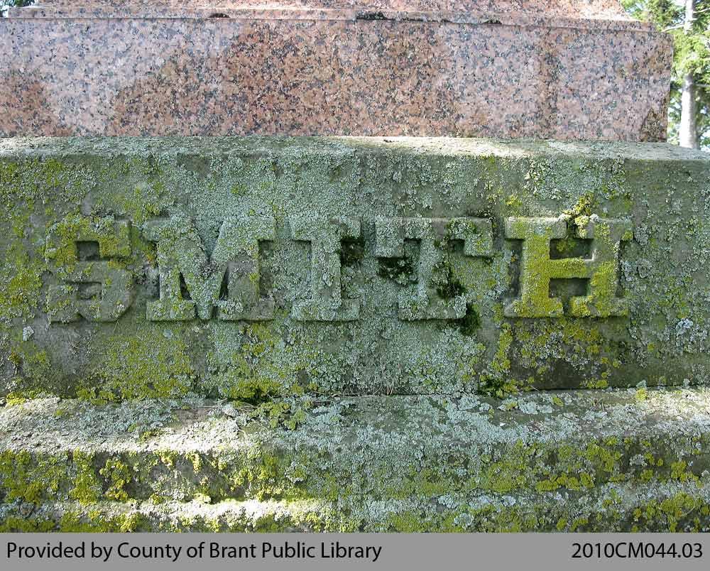 Smith Family Headstone (Range 1-9)