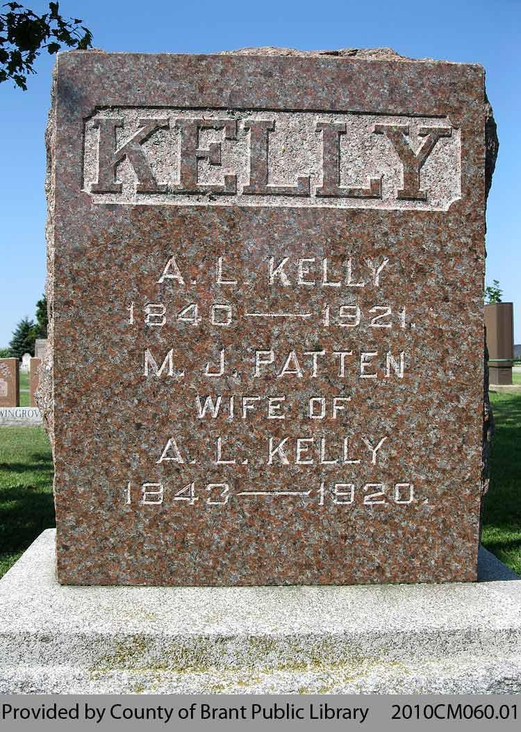 Kelly Family Headstone (Range 2-11)