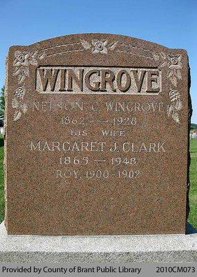Wingrove Family Headstone (Range 3-12)