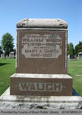 Waugh Family Headstone