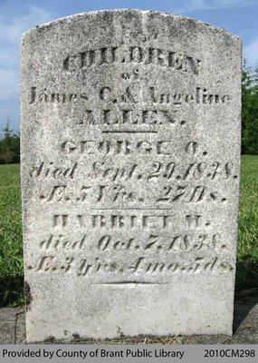 Allen Family Headstone