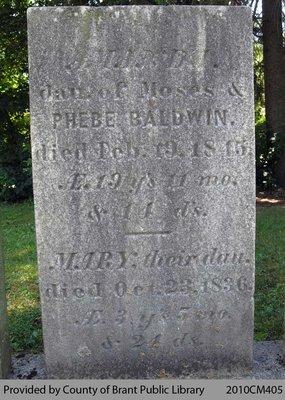 Baldwin Family Headstone