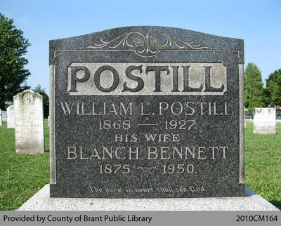 Postill Family Headstone (Range 11-11)