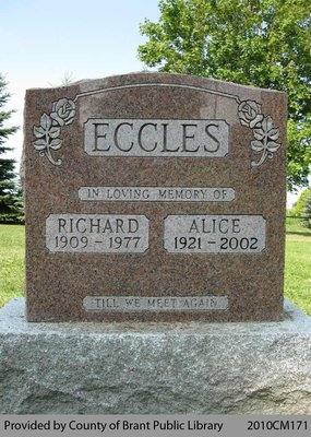 Eccles Family Headstone