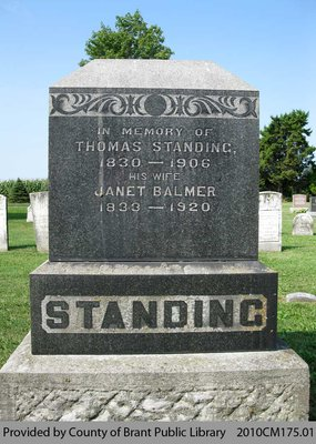 Standing Family Headstone (Range 12-9)