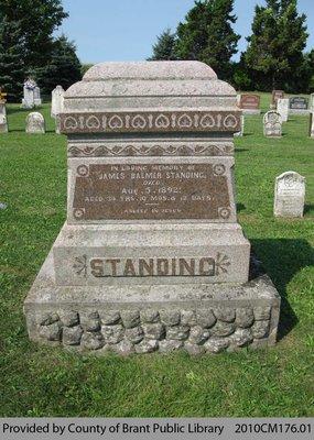 Standing Family Headstone (Range 12-10)