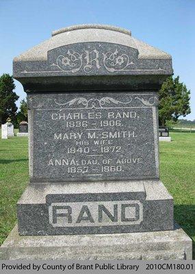 Rand Family Headstone