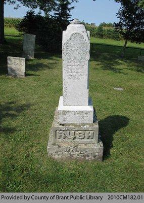 Rush Family Headstone
