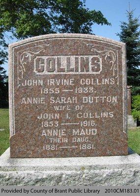 Collins Family Headstone