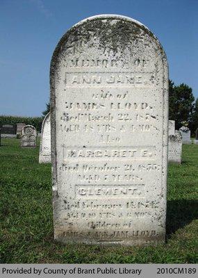 Lloyd Family Headstone