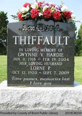 Thiffault Family Headstone