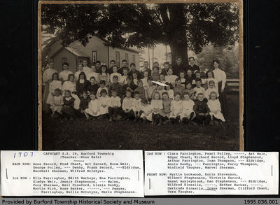1907 Cathcart S.S. No. 24 Class Photo