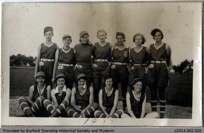 1932 Burford Blue Birds Team Photo