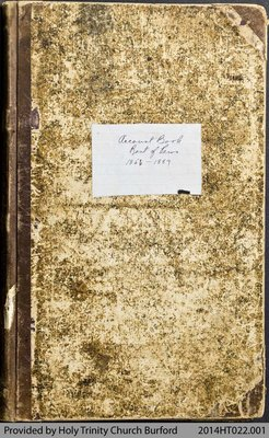 Holy Trinity Church Burford Account Book - Rental of Pews 1856-1889