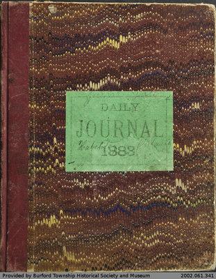 William Yates 1883 Journal