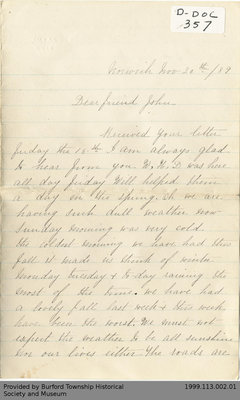 Letter to John Yates from Maggie Morgan