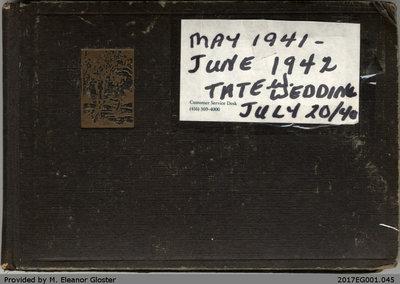 "Photo Album, John ""Jack"" Chapple Tate and Mary (Welsh) Tate, July 1940, May 1941-June 1942"