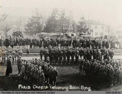 Paris Cadets Welcoming Baron Byng, 9 April 1922