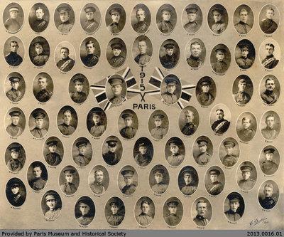 Paris 1915 Military Collage