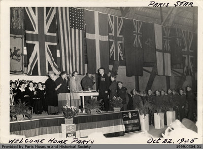 Welcome Home Party Oct 22. 1945