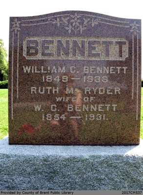 William and Ruth M. (Ryder) Bennet